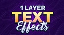 PS Tutorial Creating 3D Text Effects with 1 Layer Style Group