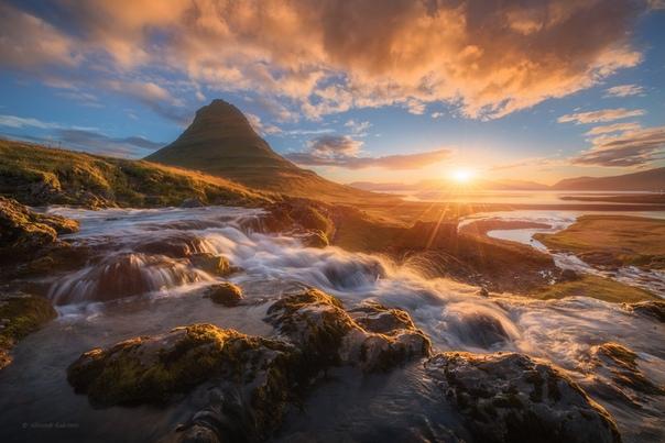 Рассвет у вершины Киркьюфетль (Исландия)