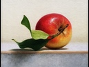 Apple oil painting demo time lapse