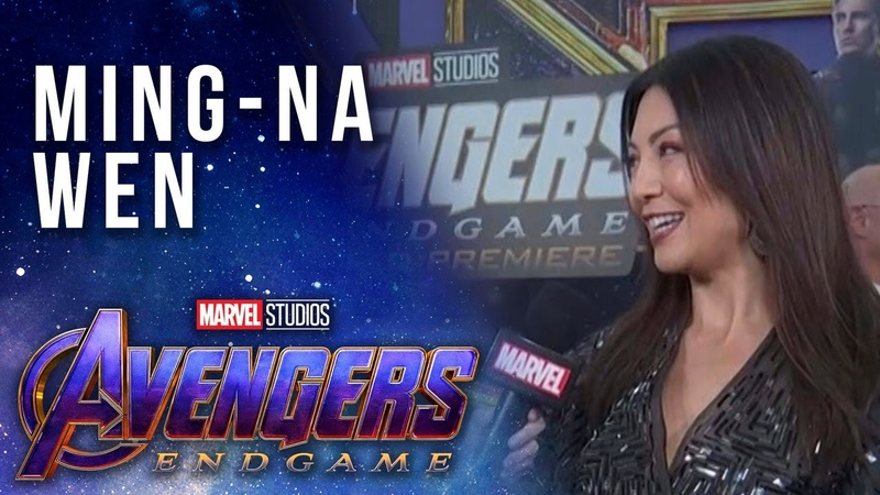 Agents of S.H.I.E.L.D. Ming-Na Wen LIVE at the Avengers Endgame Premiere