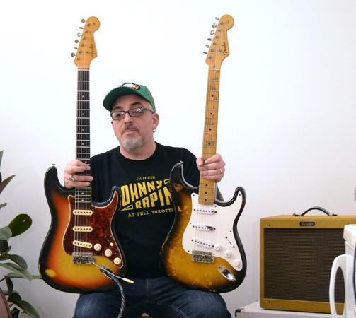 Fender Stratocaster 1954 e 1964 a confronto