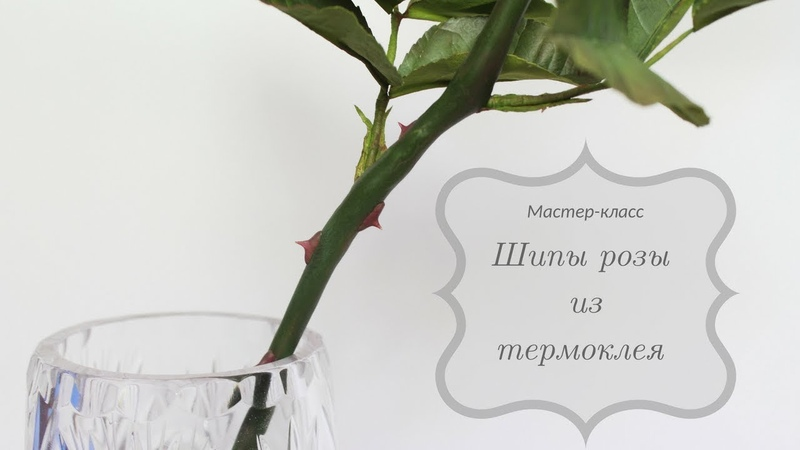 Колесова Любовь Шипы розы из термоклея FlowersFoam Lav