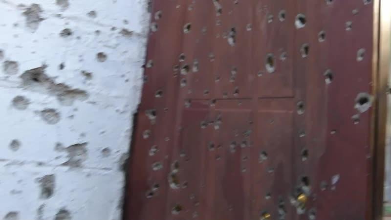 Обстрел поселка Октябрь - хроники войны гумбата Ангел.
