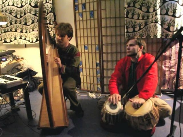 Philipp Barsky and Andrey Terekhin - celtic harp and tabla medley with improvisation