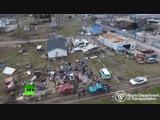 Разрушения после торнадо в Иллинойсе — видео с беспилотника