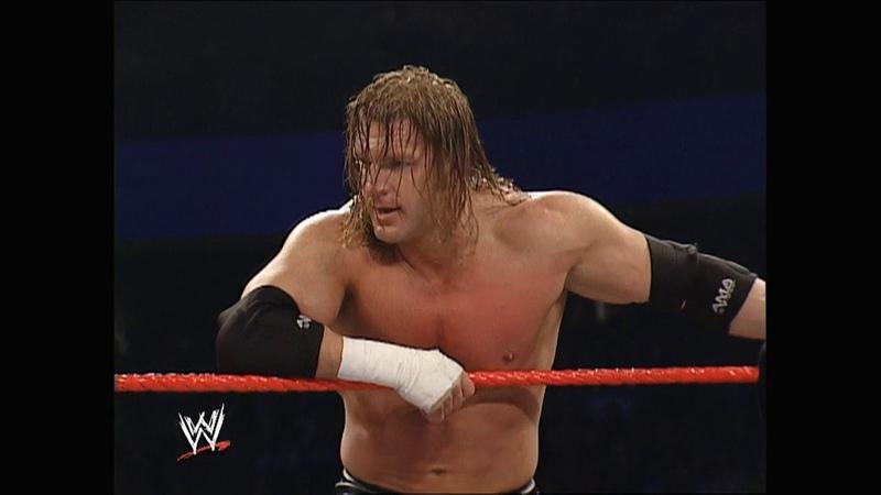 Batista Triple H vs Scott Steiner Booker T Raw Feb 17 2003