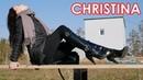 Christina's Gianmarco Lorenzi shiny high heels boots EU 38 US 7 5