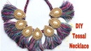 DIY Tassel Necklace How to make silk thread Tassel Necklace at Home