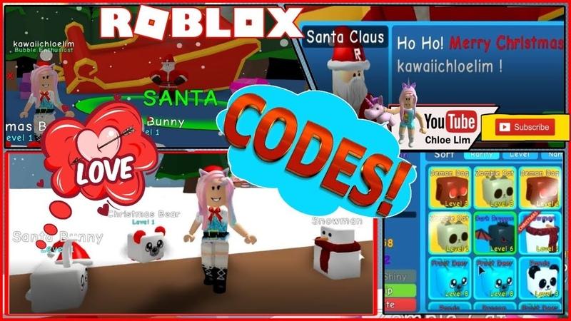Bubble Gum Simulator Codes (see Desc)! I MET SANTA, am I on his Naughty List Loud Warning!
