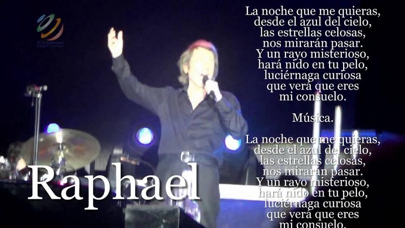 Raphael El día que me quieras letras