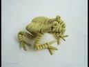 Плетение из бумажной лозы. Лягушонок. Мастер-класс.