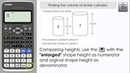 Finding the volume of similar cylinders [3D Scale Factor] (Casio Calculator, 991EX, 85GT)