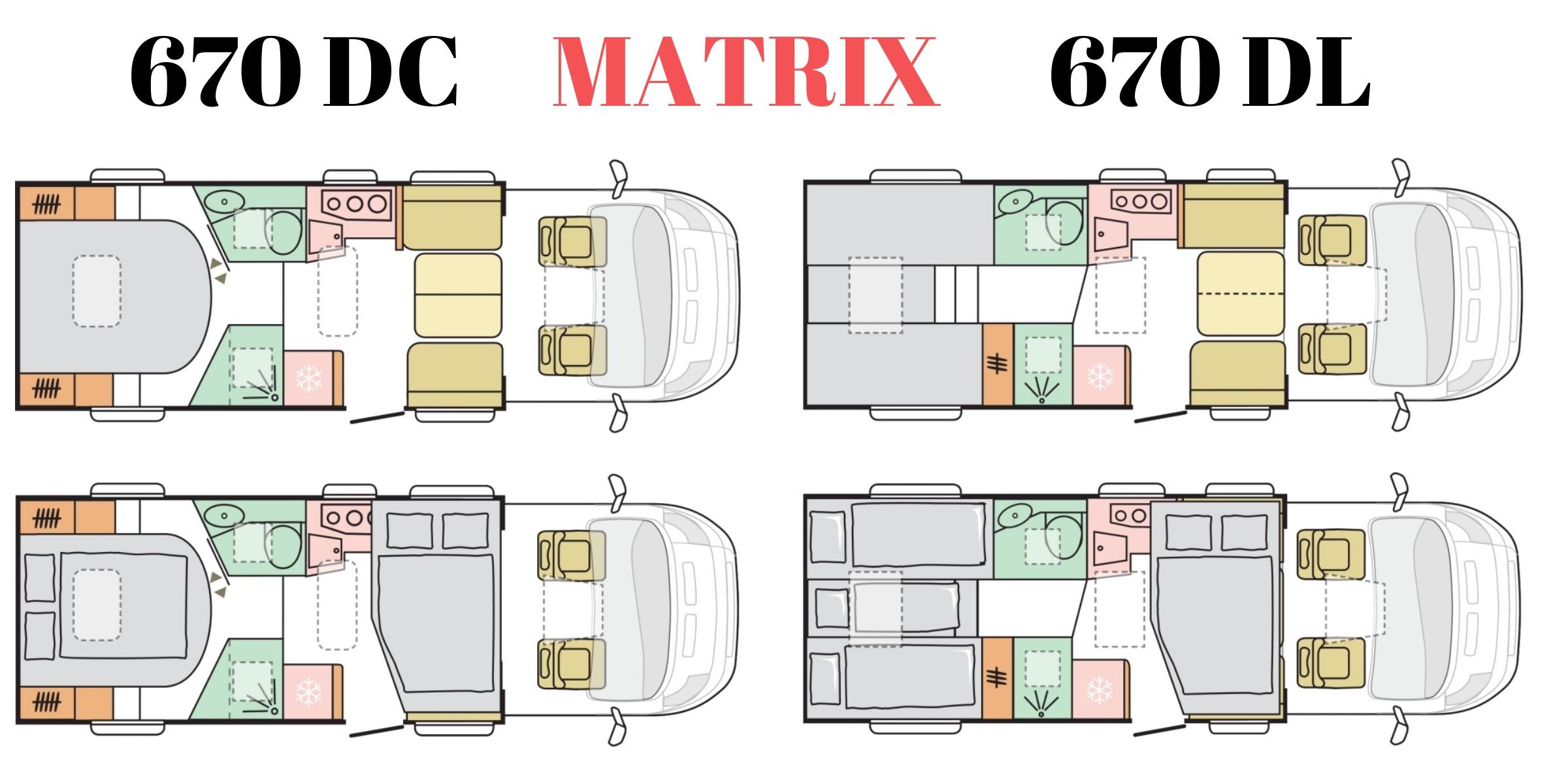 Новые планировкм Matrix 670 DC и 670 DL