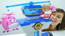 Los Aviones Súper Wings en la Guardería Infantil Vídeos de juguetes