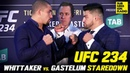 UFC 234: Robert Whittaker vs. Kelvin Gastelum Staredown