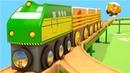 Trenes para niños en español Vídeo Educativo para Niños Coches Inteligentes