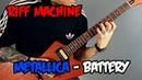 Как играть Metallica - Battery (Табы Минус) | Riff Machine