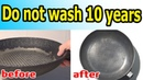How to clean the griddle pan and other dishes from a decade of soot and any fat