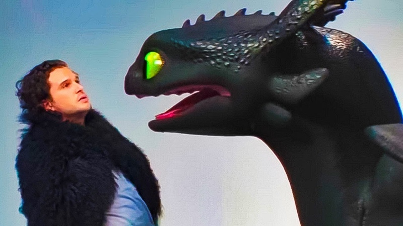 Кит Харрингтон и Беззубик на кастинге сериала Игра Престолов | В Рейтинге