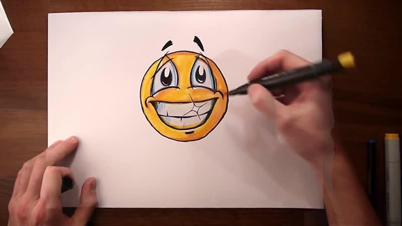Учимся рисовать смайлик