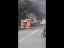 В Колпино сгорел трактор