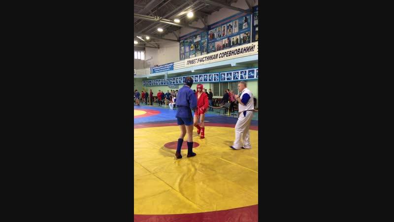 1-й бой Тимофеева Дениса на чемпионате Саратовской области по боевому самбо!