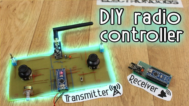 DIY Radio Controller - Arduino NRF24 amplified antenna