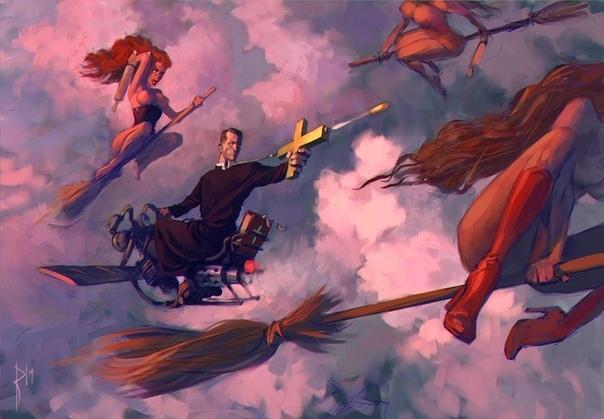 Охота на ведьм Инквизитор, насвистывая «Аве, Мария», окинул взглядом население деревни. От взгляда такого, обычно, население бледнело и повахтно падало в обморок, домашний скот, включая овец и