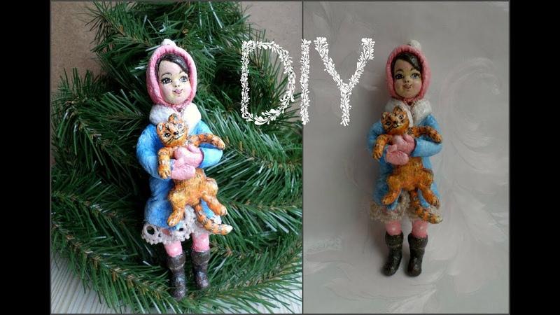 Кукла из ваты-часть 1 ❄🎄 🎅 Мастер-класс