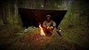 🌲Поход в Осенний Лес | Пища на Огне| Простое Укрытие из Пончо • Autumn Wood Backpacking | Bushcraft