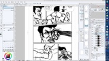 How i drew a manga for one evening (long af timelapse)