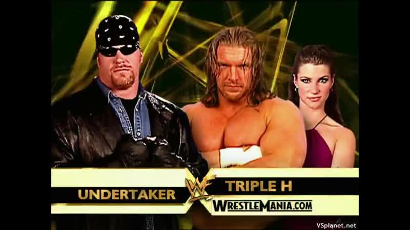 WWE Mania WrestleMania X Seven Undertaker Vs Triple H