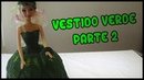 Vestido Verde a crochet para Muñeca Parte 2