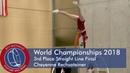 World Championships in Gymwheel 2018 Final straight line Cheyenne Rechsteiner