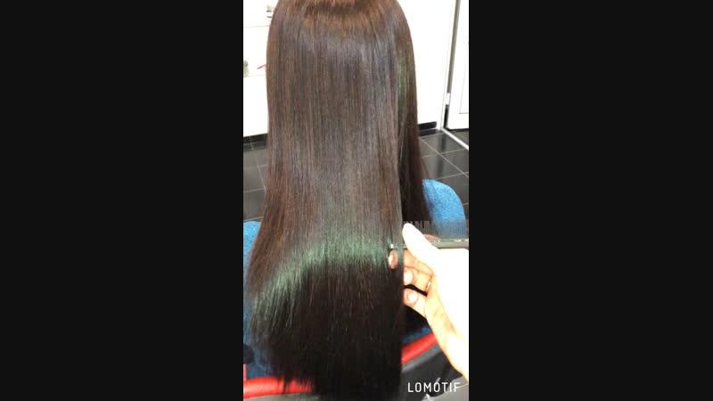 Нанопластика ‼️состав смыт , волос высушен без использования расчёски 💁🏻♀️
