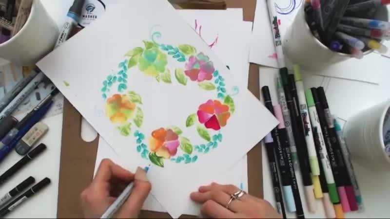 Учимся рисовать спиртовыми и акварельными маркерами ZIG Kurecolor