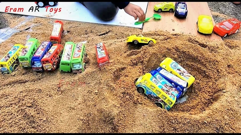 Toy Buses Kid Play Into Sand Kids Toys Eram AR Toys EP12