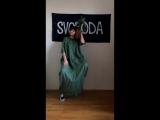 видос-примерка зеленое кофта-платье 2.0 в пол
