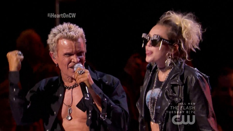 Miley Cyrus and Billy Idol Rebel Yell