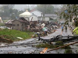 Последствия самого мощного за последние 60 лет тайфуна в Японии