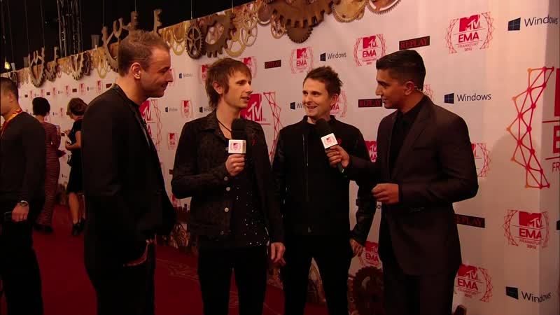 Muse Interview MTV EMA 2012