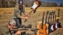 Сколько гитар выдержат выстрел .50 BMG Разрушительное ранчо Перевод Zёбры