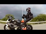 MOTORCYCLE FAIL &amp WIN COOL GIRL ON MOTO
