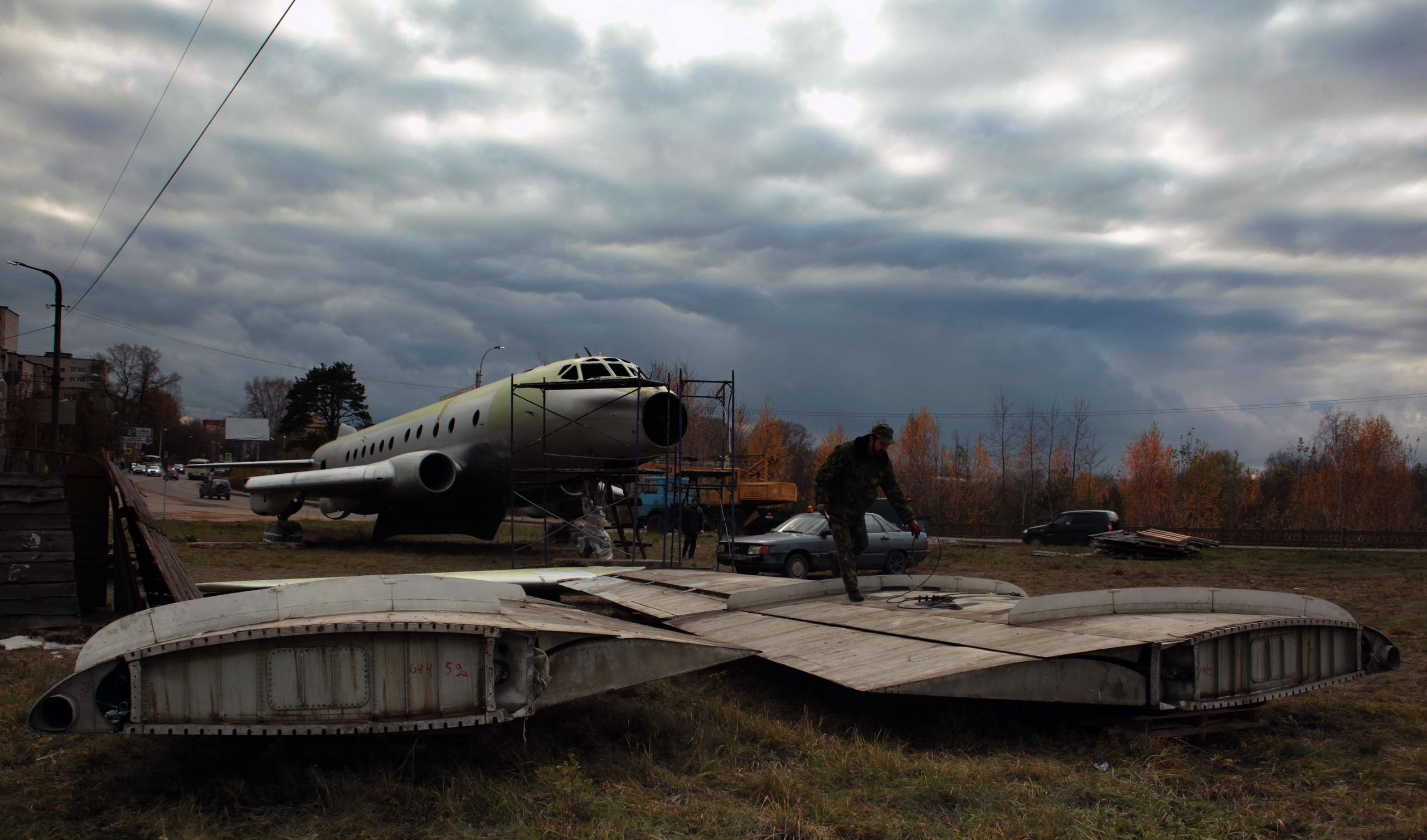 Самолёт ТУ-124 в Кимрах встретит юбилей своего создателя без крыльев?