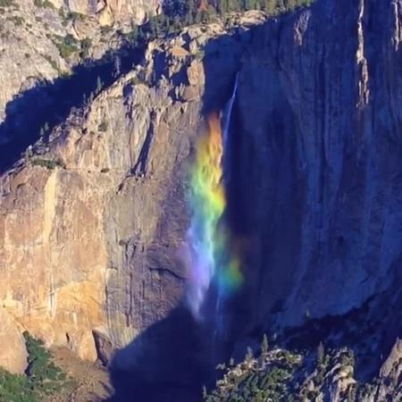 Rainbow at Yosemite (Somewhere over the Rainbow - Israel IZ Kamakawiwoʻole) · coub, коуб