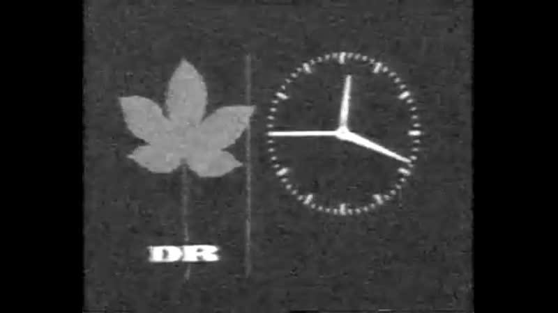 Фрагмент программы передач и конец эфира (DR TV [Дания], 26.10.1985)