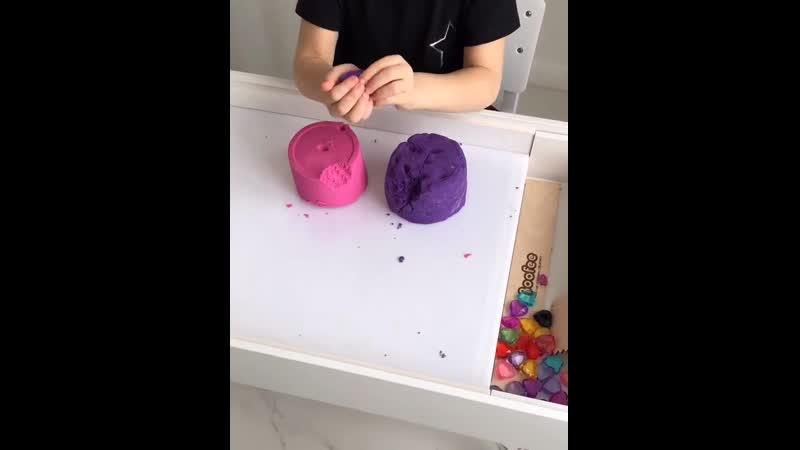 Кинетический песок игра