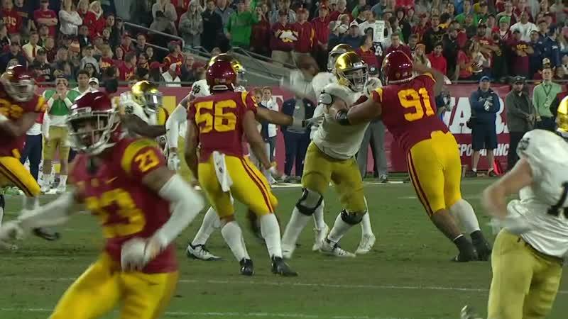NCAAF 2018 Week 13 3 Notre Dame Fighting Irish USC Trojans 2H EN