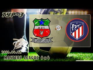 Ак тулпар v/s атлетико (3 тур). football masters league 6x6. full hd. 2019.06.02
