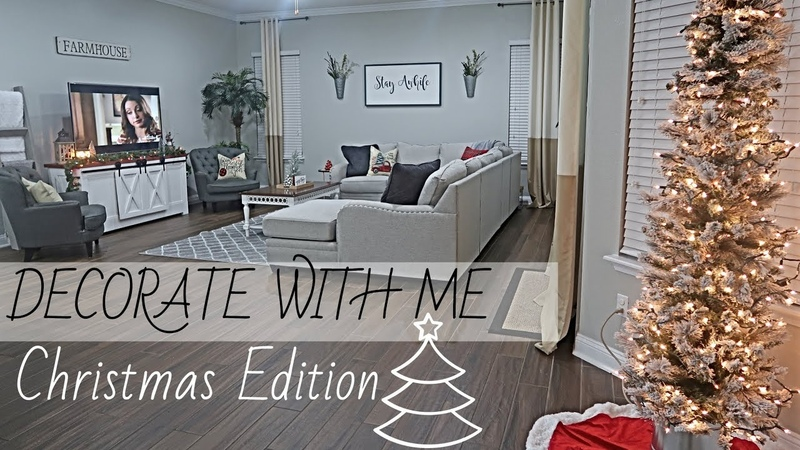 CHRISTMAS DECORATE WITH ME 2018 CHRISTMAS EDITION HOME SWEEP HOME